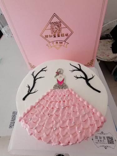 美女美背生日蛋糕